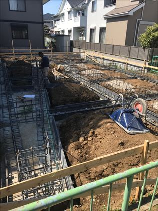 千葉県:市川の家 配筋工事