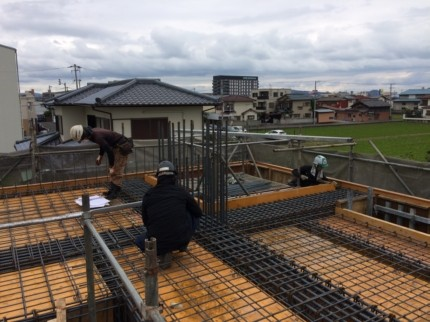 香川:高松のガレージハウス 配筋検査