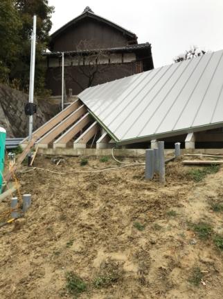 奈良学園前の家 雨どい