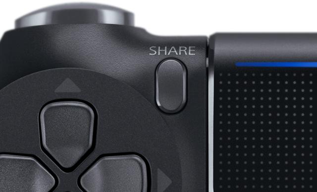 PS4:シェアボタン