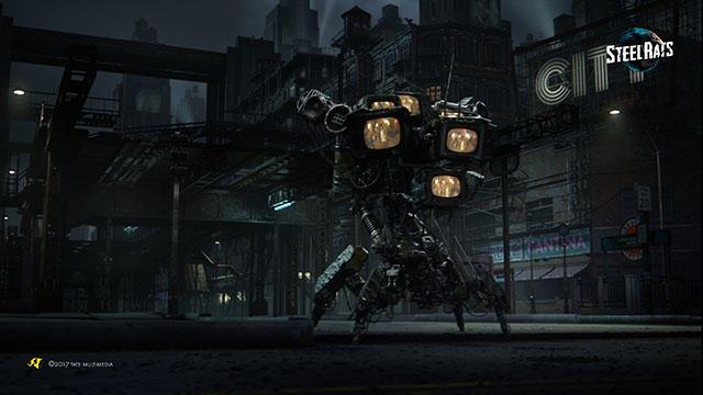 謎のロボット軍