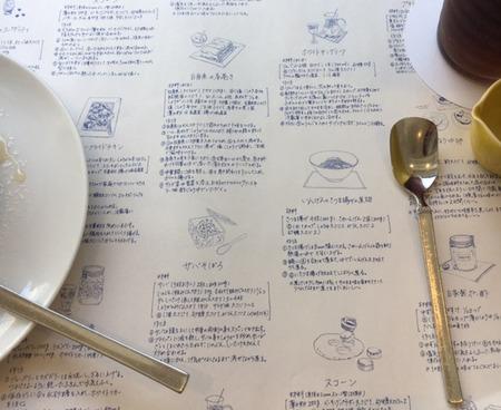 ランチョンマットレシピ