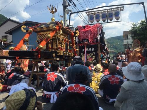木曽の夏祭り藪原祭り
