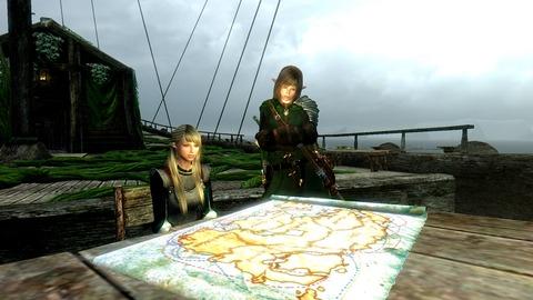 地図を眺め