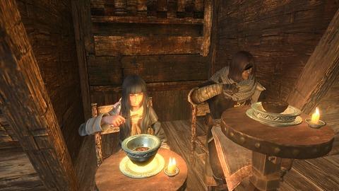 スープで身体を温めて