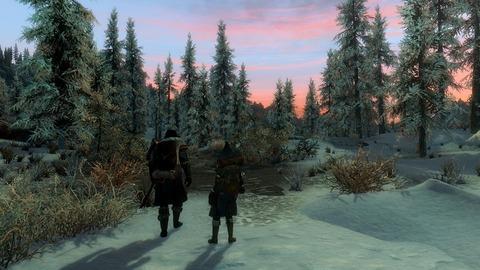 雪道の終わり
