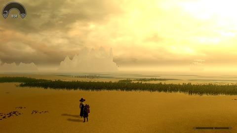 黄金色の砂丘