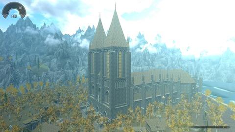 おっきな教会。遠くから