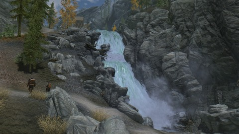 段々となった滝