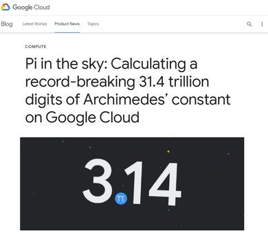 Google、円周率計算31兆桁達成世界記録更新