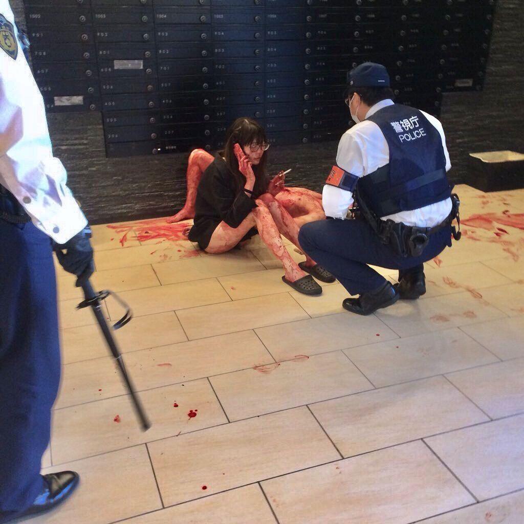 新宿でメンヘラ美女が彼氏めったざし血しぶきが半端ない現場写真がヤバすぎる #衝撃画像