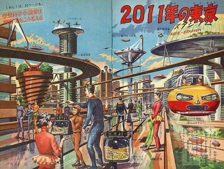 50年前の東京が今とあまり変わらない。50年後なんて未来都市になってると思ってた。 #雑談