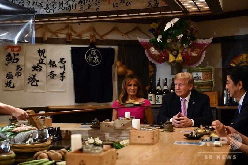 トランプ大統領、居酒屋でイラついてワロタ