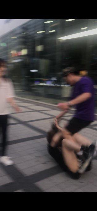 ツイ女子「韓国人にナンパされ無視したら激怒→動画を撮ったら髪の毛を引っ張られて殴られました」