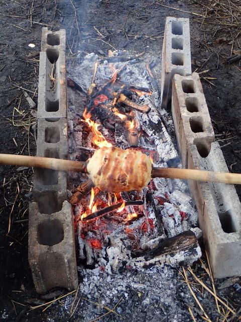 バームクーヘンが焼かれた