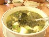 白身魚と高菜のスープ