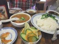 金陵カレー定食