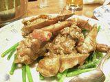 蟹味噌ニンニク炒め