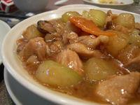 冬瓜と鶏の炒め煮