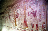 神殿内部の壁画