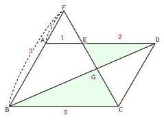 平行線と比の2の3