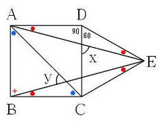 正方形と正三角形の2