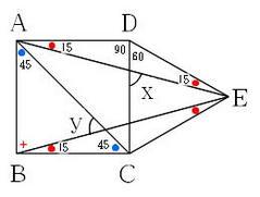 正方形と正三角形の3