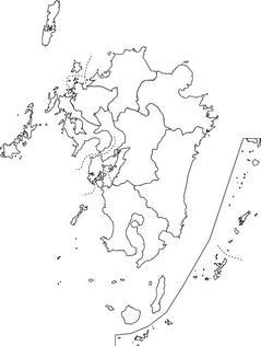 白地図 九州 白地図 フリー : 九州地方