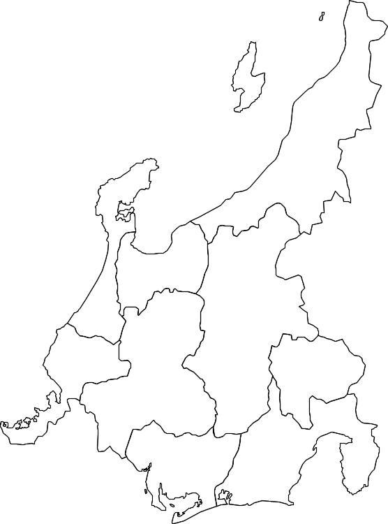 Social Studies 県別地図と特徴 2 中部 福井 石川 富山 新潟 岐阜 長野 山梨 愛知 静岡 働きアリ