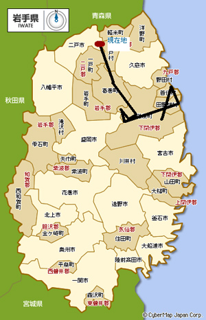 iwate map