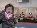 明夏莉と雛人形