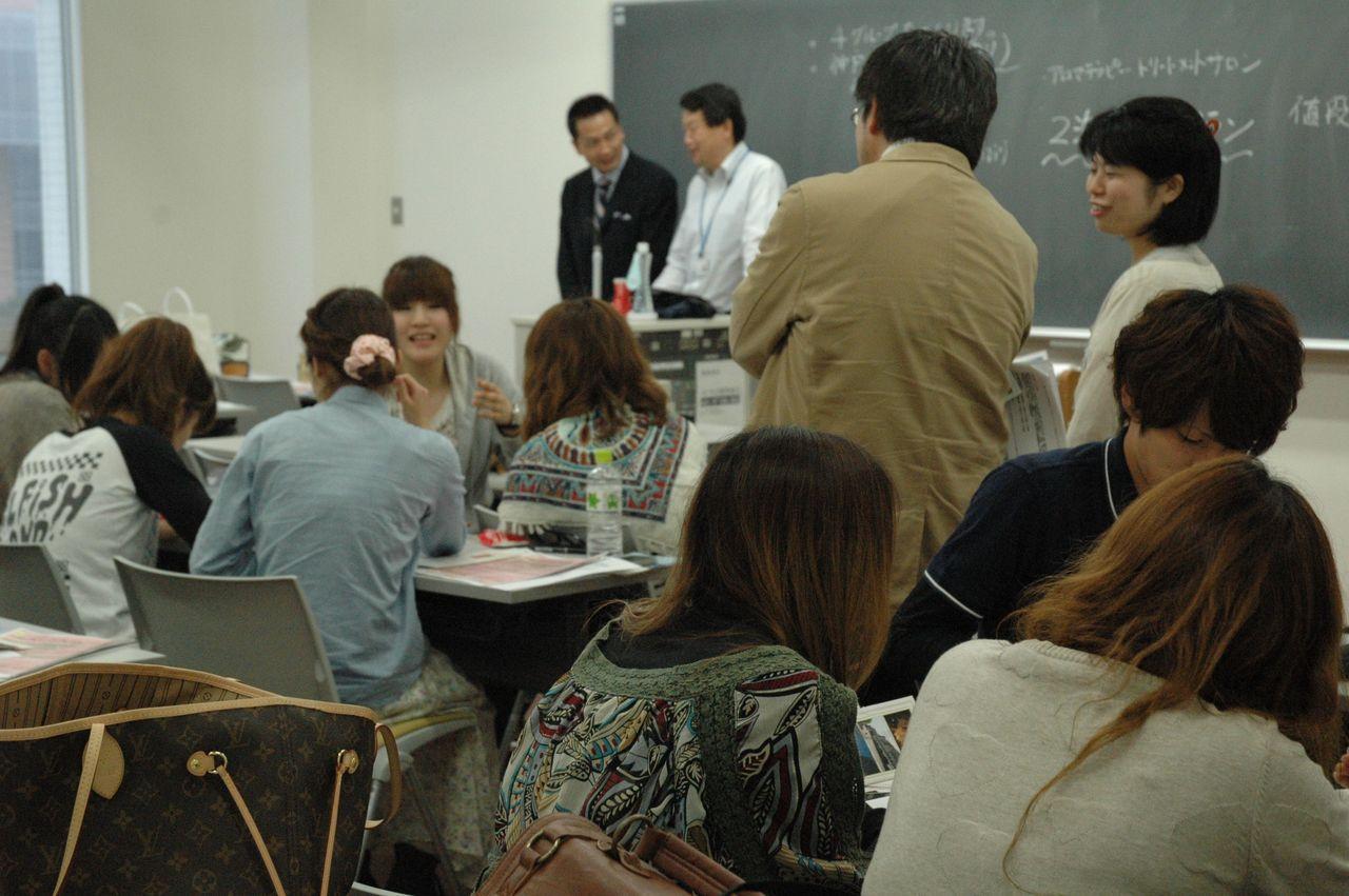 神戸夙川学院大学アロマテラピー講義・いろいろ談笑