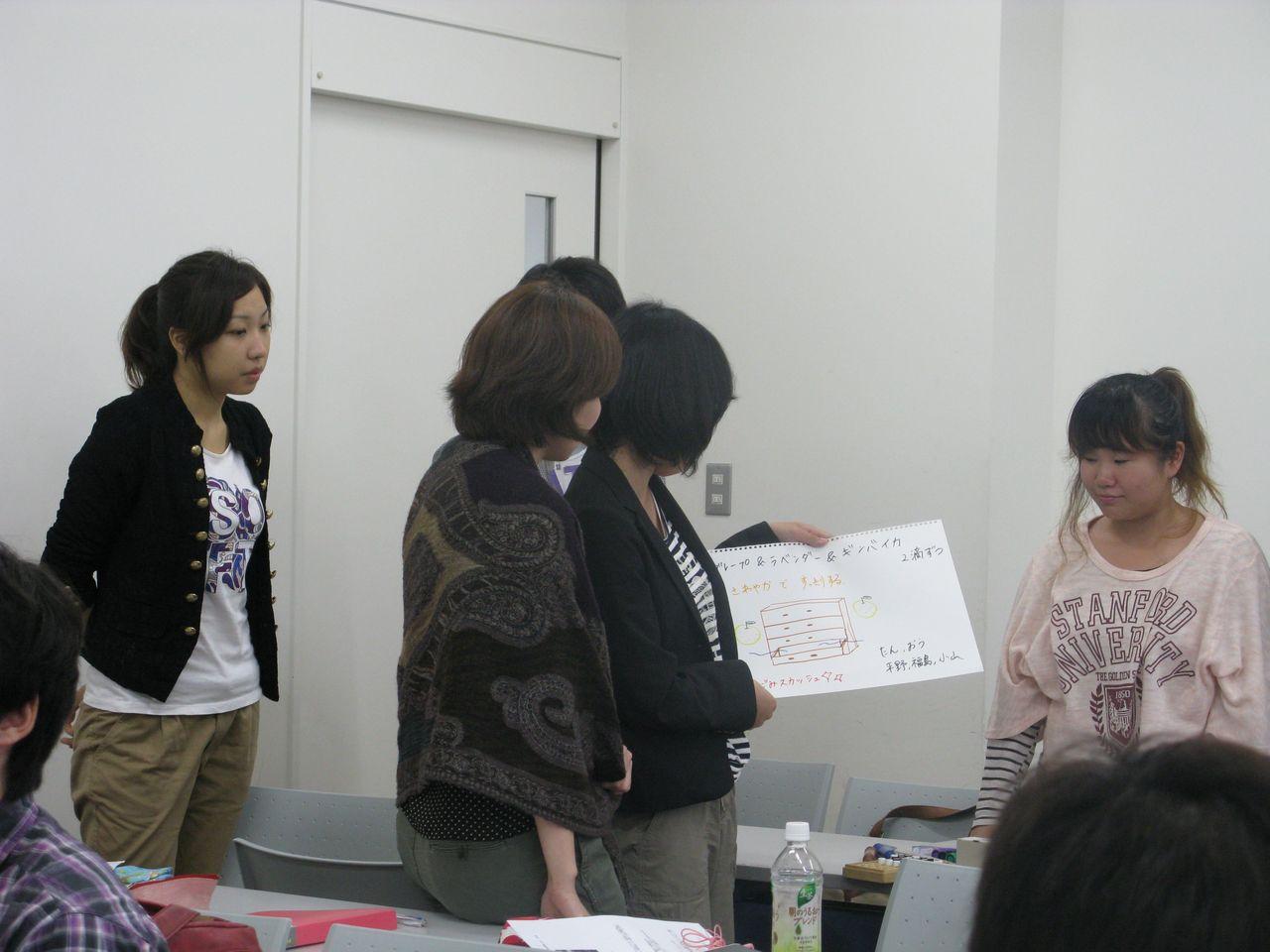 神戸夙川学院大学アロマテラピー講義・ふむふむその調子