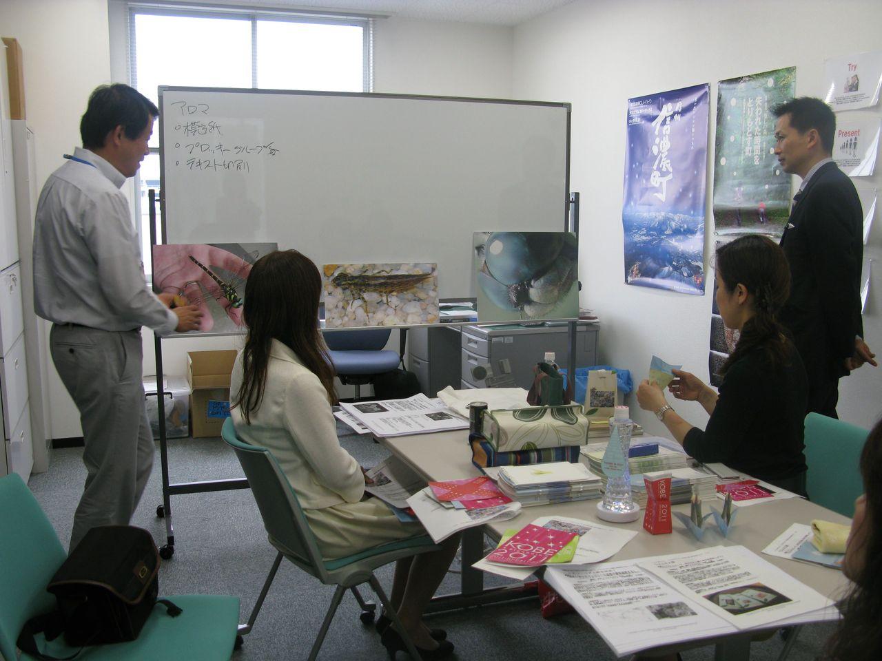 神戸夙川学院大学アロマテラピー講義・教授と事前打ち合わせ