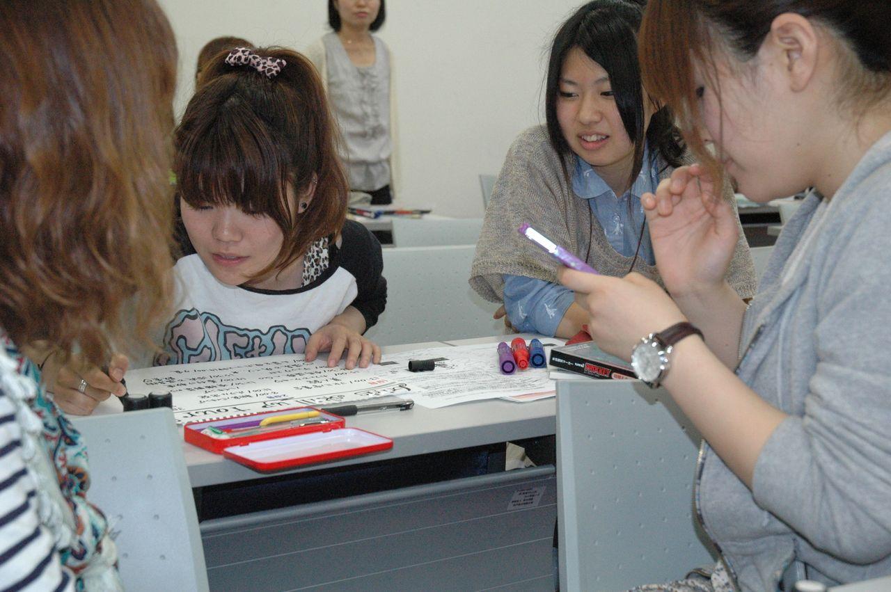 神戸夙川学院大学アロマテラピー講義・そういう風に書くといいなあ