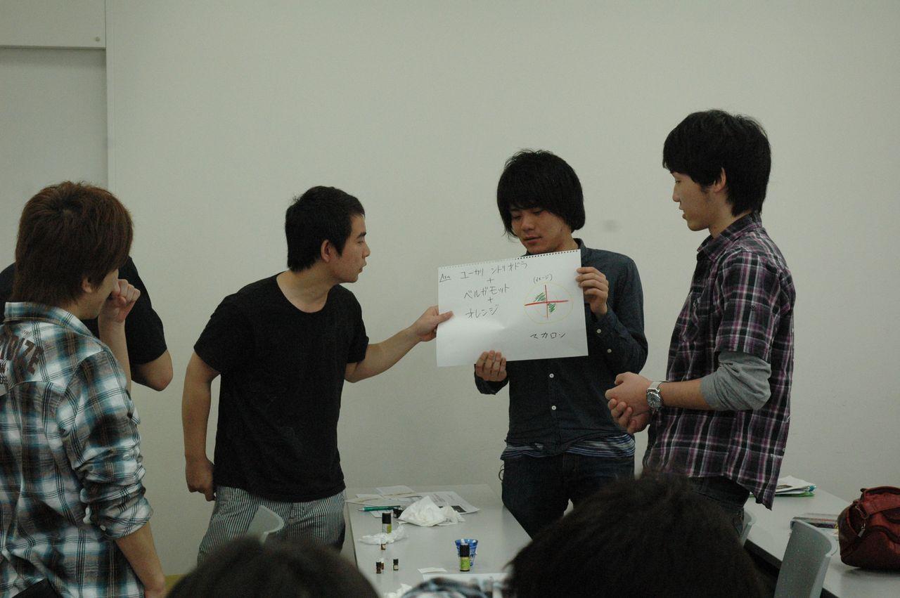 神戸夙川学院大学アロマテラピー講義・瓦割りではありません