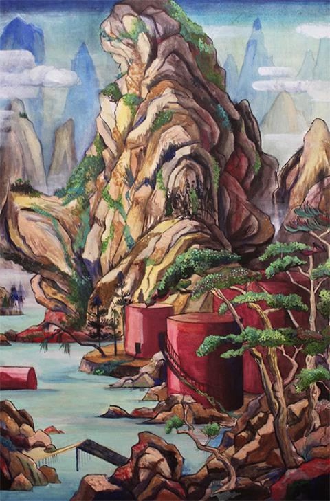 江原梨沙子 巣窟山水図