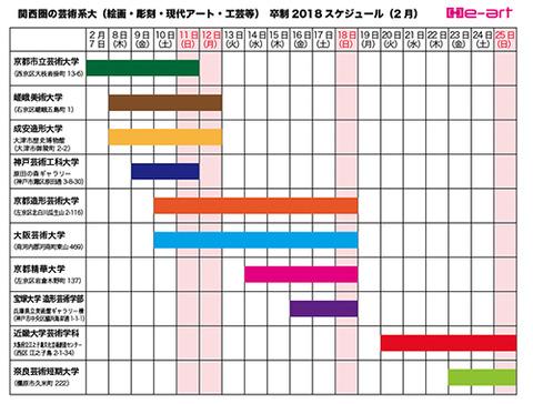 卒制2018スケジュール表