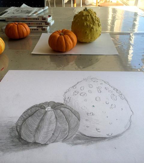 かぼちゃデッサン2