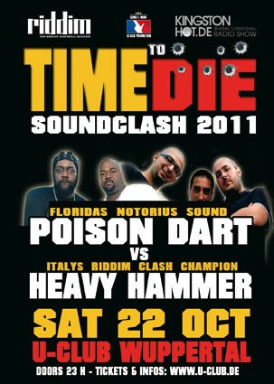 TIME TO DIE SOUNDCLASH 22_10_2011 FLYER
