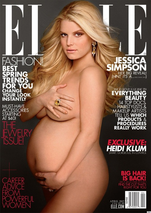 Jessica Simpson Covered nude Elle magazine April 2012