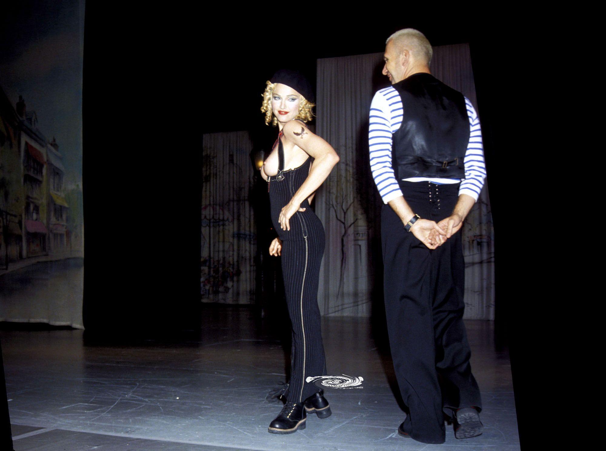 Madonna Topless Runway