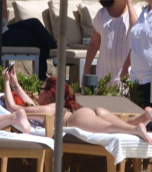 Demi Lovato - Bikini Candids Poolside