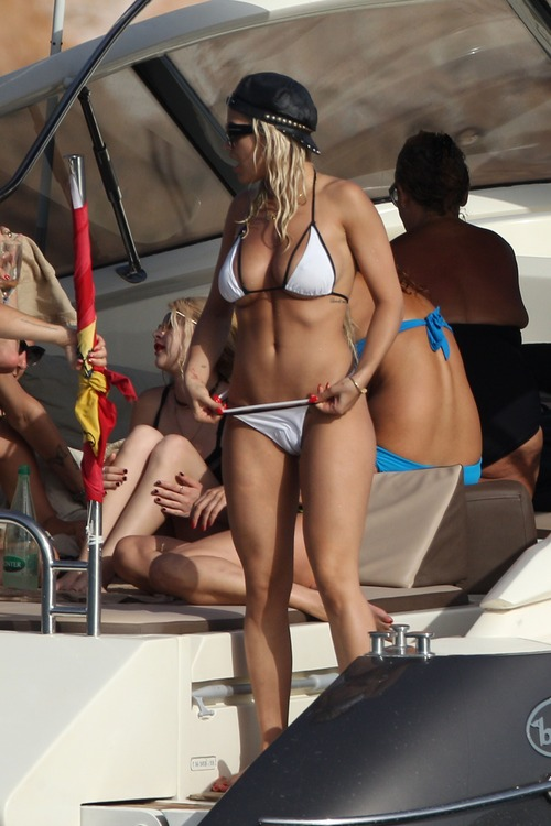Rita Ora - Wearing a bikini on a yacht in Ibiza (1)