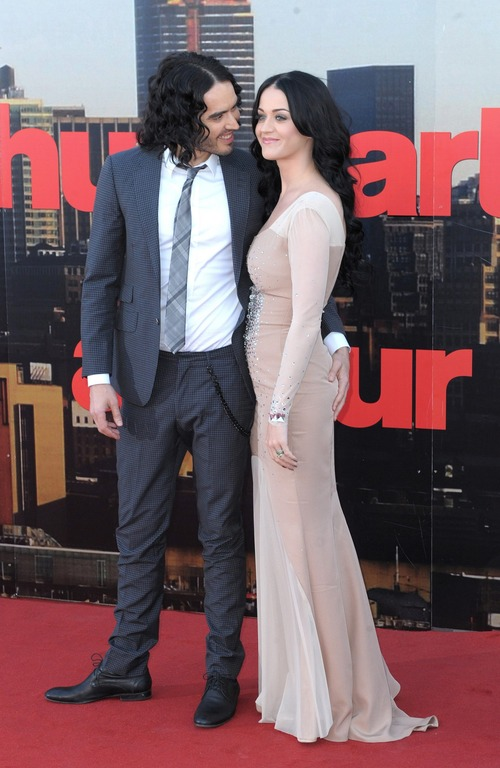 Russell Brand & Katy Perry Arthur London Premiere