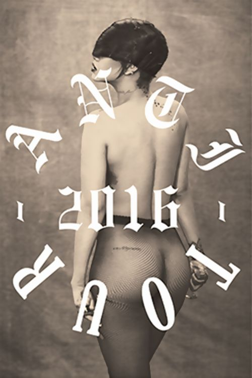 Rihanna Nude for Anti World Tour Merchandise (3)