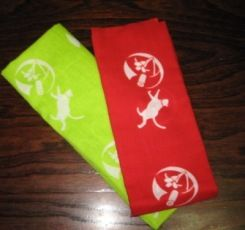 手拭い(赤&緑)