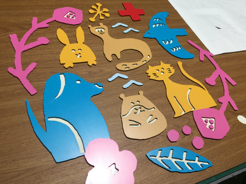 アルミ複合板の切り文字の製作