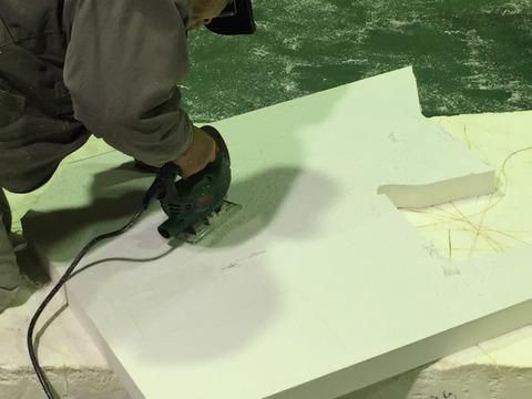 大型カルプ文字の製作