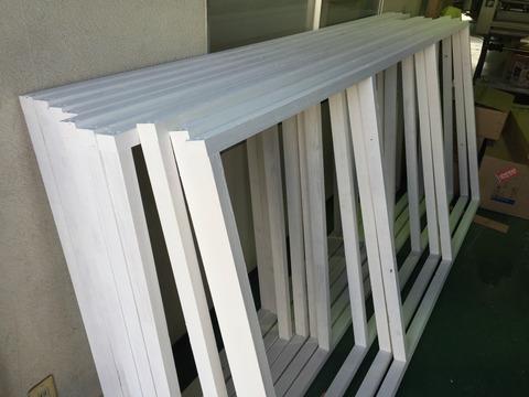 木枠看板の骨